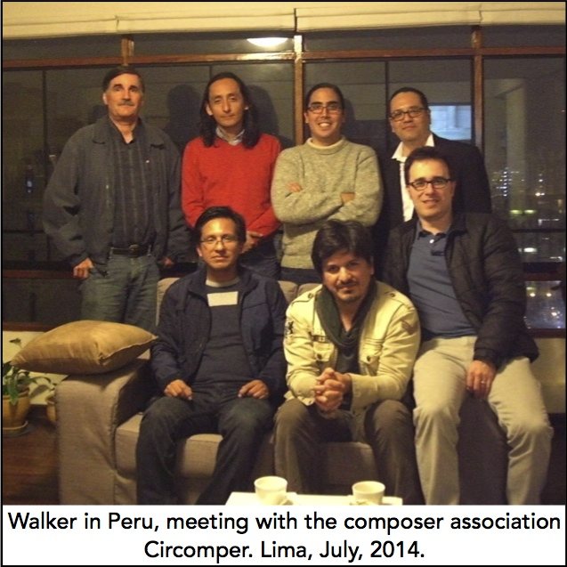 Walker meeting with composers.