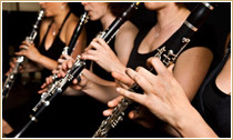 group of clarinetists